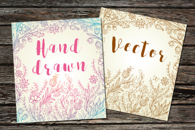 Hand Drawn Floral Backgrounds