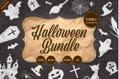 Halloween bundle with 100+ elements