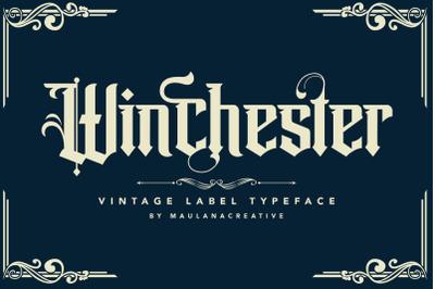 Winchester Blackletter Vintage Label Typeface Font