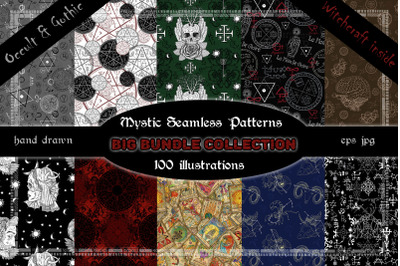 Mystic seamless patterns bundle