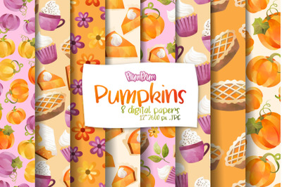 Pumpkin Digital Papers