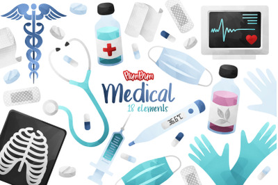 Medical Watercolor Cliparts