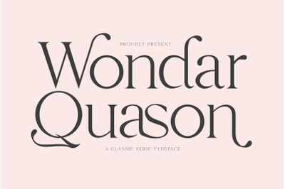 Wondar Quason Classic Serif Typeface