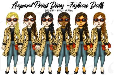 Leopard Print Girls Clipart Cheetah Print Coats PNG