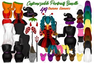 Halloween Girl Clipart, Spooky Clipart, Halloween Costumes clipart