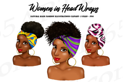 African Woman Clipart, Woman With Headwrap Clipart PNG