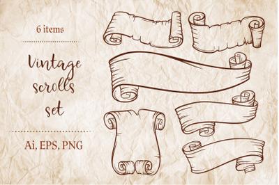Vintage scrolls set