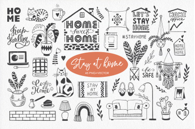Stay at Home Doodle Collection
