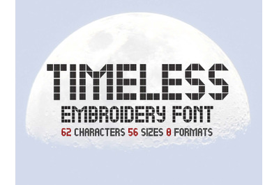LCD Family Embroidery Font, Timeless Modern Font, Futuristic Embroidey