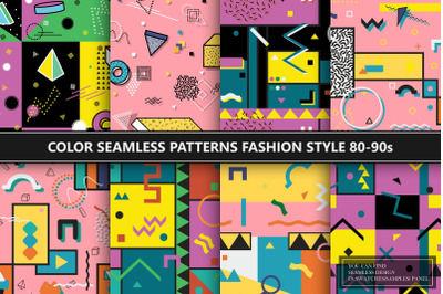 Trendy abstract color patterns - 80s