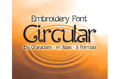 Circular Embroidery Font, Decorative Fonts, Fancy Embroidery Font