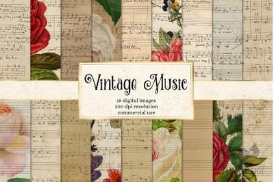 Vintage Music Digital Paper