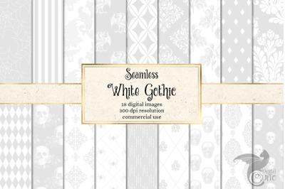 White Gothic Digital Paper
