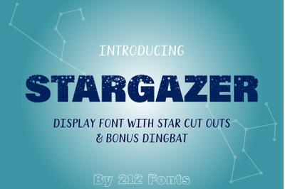 Stargazer Celestial OTF Zodiac Font with Constellations Dingbats