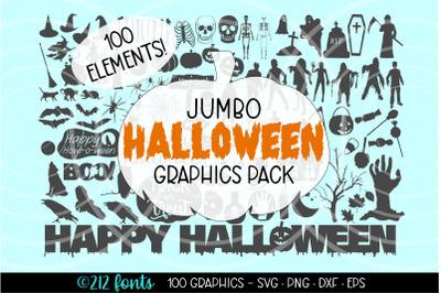 Halloween Mega Graphics Bundle Pack, Halloween Clip Art
