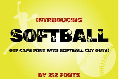 212 Softball OTF Display Font