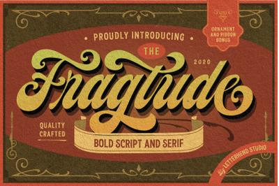 Fragtude - Vintage Display Typeface
