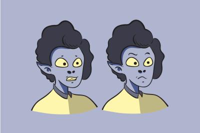 Avatar Halloween Cartoon Character