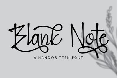 Blank Note - Ink Handwritten Font
