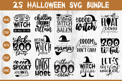 Halloween SVG Bundle, 25 Halloween SVG Cut Files