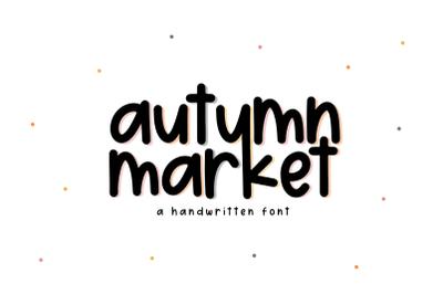 Autumn Market - Handwritten Font