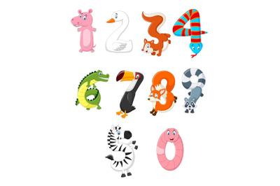 Animal Number Character Bundle