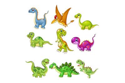 Cartoon Dinosaur Character Bundle