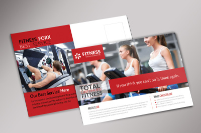 Corporate Fitness Postcard