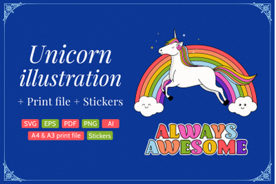 Unicorn illustration | 70% Off for limited time