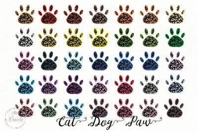 Animal Paw Footprint Clipart