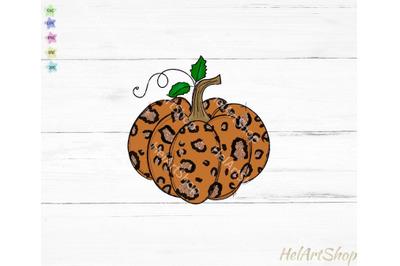 Leopard print pumpkin png