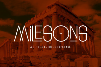 GR Milesons | Artdeco Typeface