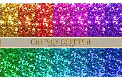 Glitter color digital paper