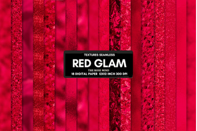 Red glam, seamless texture