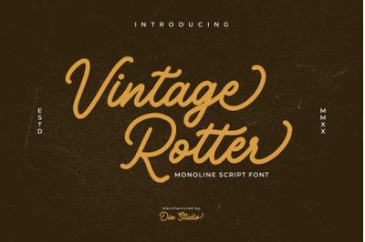 Vintage Rotter-Monoline Script Font