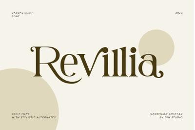 Revillia-Casual Serif Font