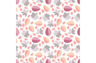 colorful leaf seamless pattern, copy space