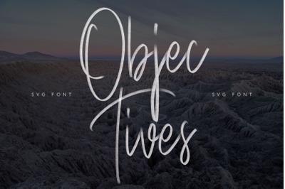 Objectives SVG Brush Font