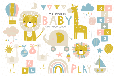 BABY clipart set