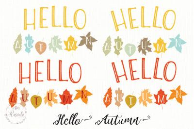 Autumn quote Hello Autumn