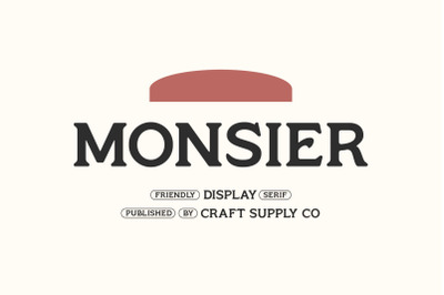 Monsier - Friendly Display Serif