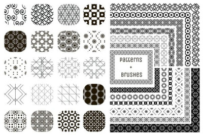 20 Patterns and 13 Pattern Brushes.