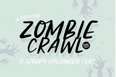 ZOMBIE CRAWL Halloween Font