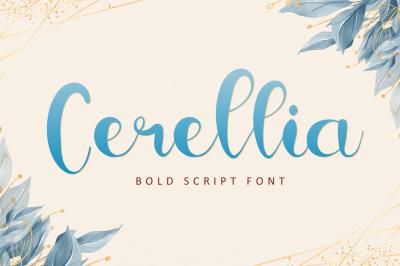 Cerellia - Bold Script Font