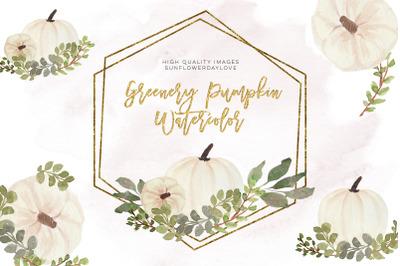Autumn Pumpkin Clipart, Fall Illustration, Watercolor Pumpkin Clip Art