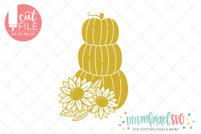 Stacked Sunflower Pumpkins