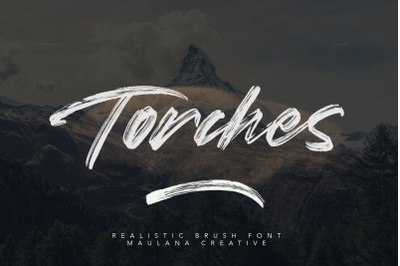 Torches Realistic Brush Font