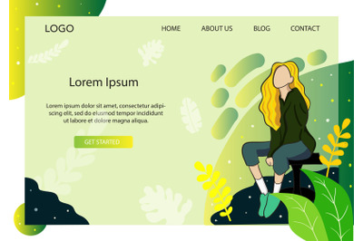 Landing Page Fashion with Yellow hair style