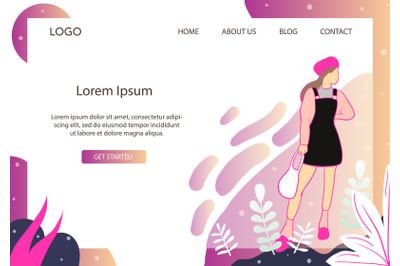 Landing Page Fashion Pink& Black Jumpsuit