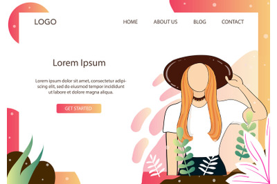 Landing Page Fashion Casual Singer style